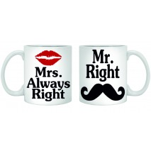 Чаши Mr. Right и Mrs. Always RIGHT